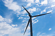 Vane and blades of wind turbines to harness renewable wind energy in Denmark