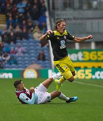 Matthew Lowton of Burnley (L) fouls Jannik Vestergaard of Southampton - Mandatory by-line: Jack Phillips/JMP - 10/08/2019 - FOOTBALL - Turf Moor - Burnley, England - Burnley v Southampton - English Premier League