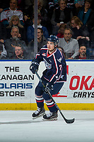 KELOWNA, CANADA - JANUARY 3: Anthony Bishop #7 of the Tri-City Americans skates against the Kelowna Rockets on January 3, 2017 at Prospera Place in Kelowna, British Columbia, Canada.  (Photo by Marissa Baecker/Shoot the Breeze)  *** Local Caption ***