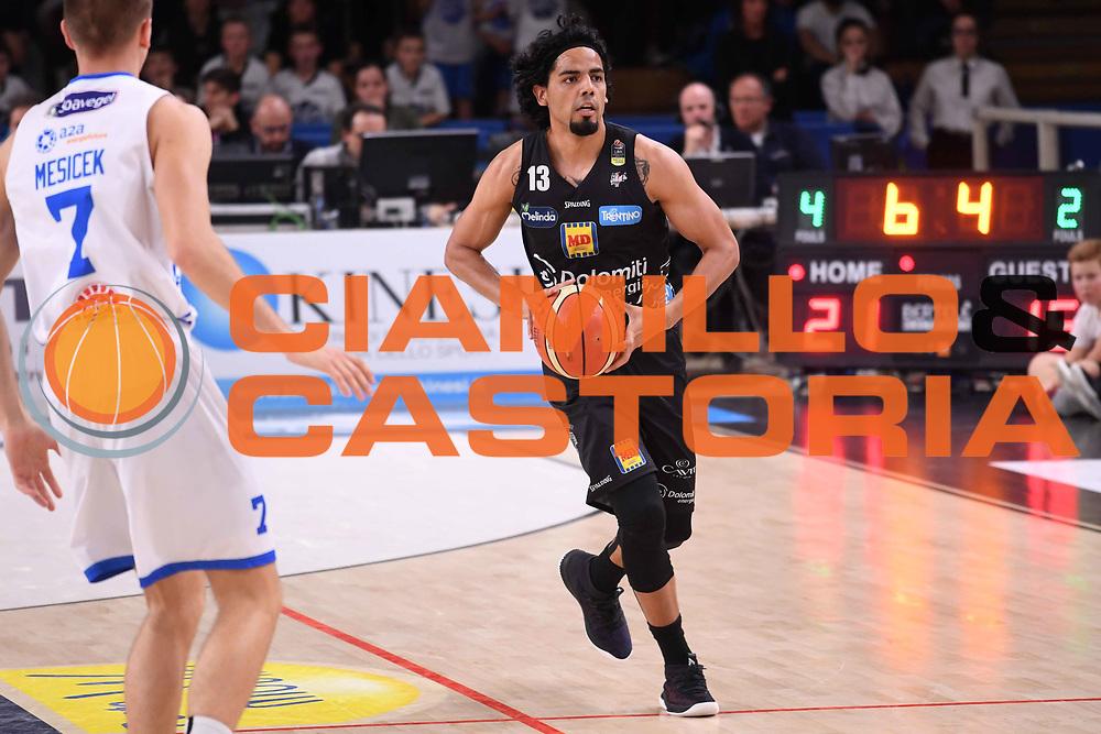 Jorge Gutierrez<br /> Dolomiti Energia Aquila Basket Trento - Happy Casa New Basket Brindisi<br /> LegaBasket Serie A 2017/2018<br /> Trento, 08/04/2018<br /> Foto M.Ceretti / Ciamillo - Castoria
