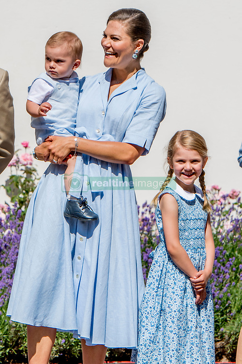 Crown Princess Victoria and husband Prince Daniel with their children Princess Estelle, Prince Oscar during the traditionally celebration of Crown Princess Victoria's birthday at the royal family's summer residence, Solliden Palace in Borgholm, Öland, Sweden, on July 15, 2017, a day later Stockholm celebration. Photo by Robin Utrecht/ABACAPRESS.COM