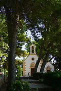 A small church in the woods outside the city of Chania, Crete, Greece