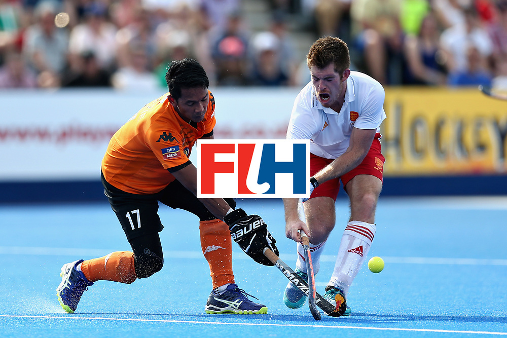 LONDON, ENGLAND - JUNE 17: Razie Rahim of Malaysia in action during the Hero Hockey World League Semi Final match between England and Malaysia at Lee Valley Hockey and Tennis Centre on June 17, 2017 in London, England.  (Photo by Alex Morton/Getty Images)