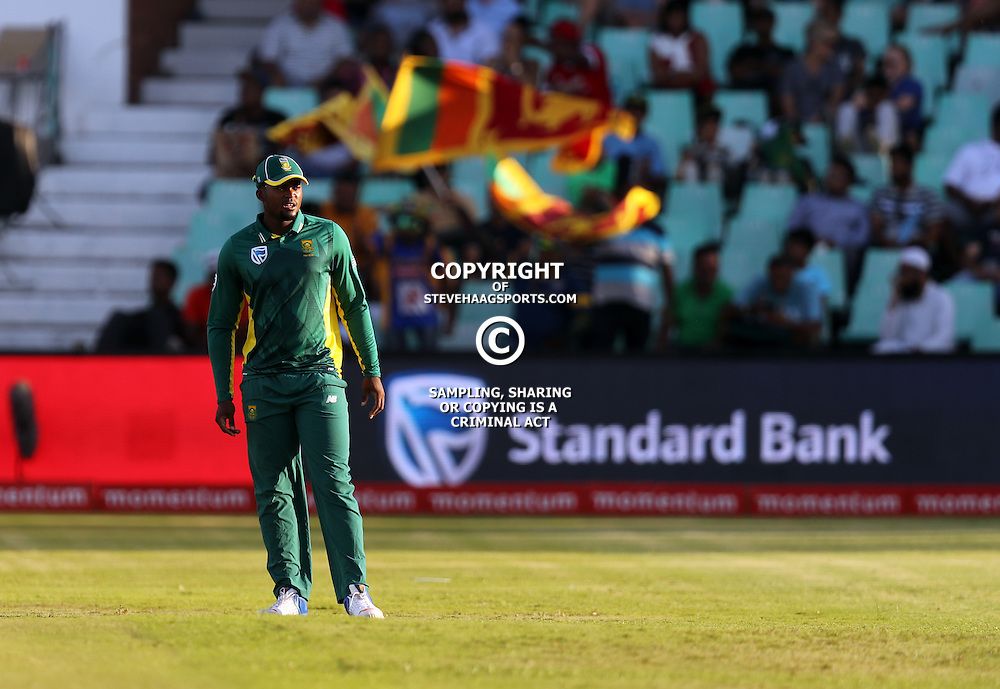 Andile Phehlukwayo of the (South African Proteas) during the 2nd ODI Momentum One-Day International (ODI) series South African and Sri Lanka at Kingsmead, Durban, South Africa.1st February 2017 - (Photo by Steve Haag)