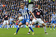 Brighton striker (on loan from Manchester United), James Wilson (21) during the Sky Bet Championship match between Brighton and Hove Albion and Derby County at the American Express Community Stadium, Brighton and Hove, England on 2 May 2016. Photo by Phil Duncan.