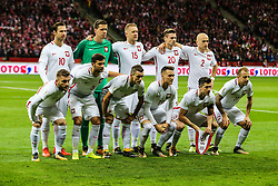 October 8, 2017 - Warsaw, Poland - Grzegorz Krychowiak (POL), Wojciech Szczesny (POL), Kamil Glik (POL), Lukasz Piszczek (POL), Michal Pazdan (POL), Jakub Blaszczykowski (POL), Bartosz Bereszynski (POL), Krzysztof Maczynski (POL), Piotr Zielinski (POL), Robert Lewandowski (POL), Kamil Grosicki (POL),  during Poland and Montenegro World Cup 2018 qualifier match in Warsaw, Poland, on 8 October 2017. POLAND won 4-2 and take on their World Cup 2018 qualifier. (Credit Image: © Foto Olimpik/NurPhoto via ZUMA Press)