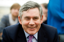 British Prime Minister Gordon Brown and Chancellor Alistair Darling paid a flying visit to Sheffield. After getting off a train at Sheffield Railway Station surrounded by photographers he made his way to the station coffee shop  where he met the local Labour Party faithful and spent time Speaking with journalists before climbing into a grey Jaguar to carry on campaigning  for re-election. Wednesday 13 April 2010. .Images © Paul David Drabble