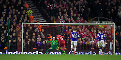 28.01.2014, Anfield, Liverpool, ENG, Premier League, FC Liverpool vs FC Everton, 23. Runde, im Bild Liverpool's Daniel Sturridge scores the second goal against Everton // during the English Premier League 23th round match between Liverpool FC and Everton FC at Anfield in Liverpool, Great Britain on 2014/01/29. EXPA Pictures &copy; 2014, PhotoCredit: EXPA/ Propagandaphoto/ David Rawcliffe<br /> <br /> *****ATTENTION - OUT of ENG, GBR*****