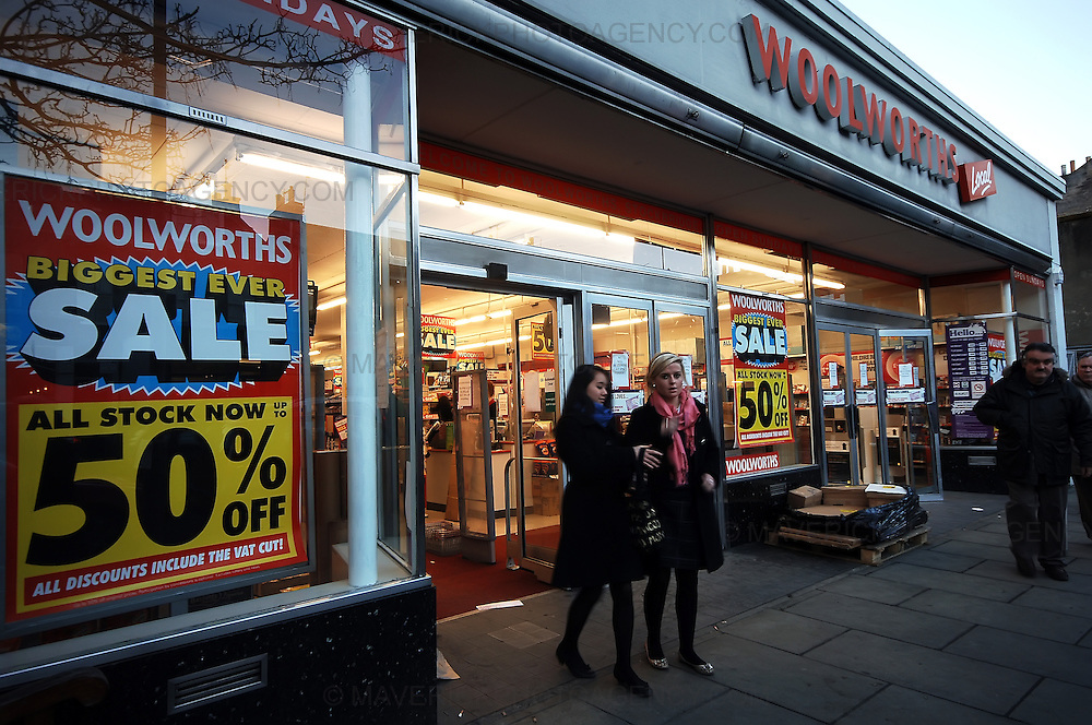 High street department store Woolworths begins it's closing down sale today after a buyer couldn't be found for the struggling store.  Pictue shows a general view of the Woolworths store in Stockbridge, Edinburgh.