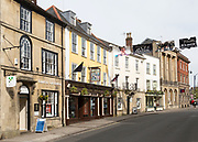 Historic buildings in St Johns Street, Devizes, Wiltshire, England, UK - The Silk Mercer, Wetherspoons pub