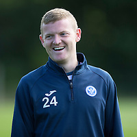 St Johnstone Training...07.08.15<br /> Brian Easton enjoying himself in training this morning<br /> Picture by Graeme Hart.<br /> Copyright Perthshire Picture Agency<br /> Tel: 01738 623350  Mobile: 07990 594431