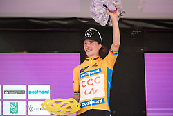 Marianne Vos (NED) secures the general classification victory on Ladies Tour of Norway 2019 - Stage 4, a 154 km road race from Svinesund to Halden, Norway on August 25, 2019. Photo by Sean Robinson/velofocus.com