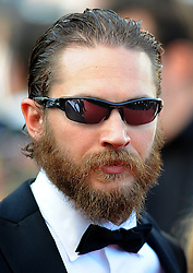 Actor Tom Hardy arrives for the screening of 'Lawless' presented in competition at the 65th Cannes film festival on May 19, 2012 in Cannes. Photo Ki Price/i-Images.<br /> File Photo : Tom Hardy in talks to play both Kray Twins.<br /> Tom Hardy is rumoured to be in line to play the notorious Kray twins, Reginald and Ronald, in an upcoming biopic.<br /> Photo filed Tuesday 25th Feb 2014.