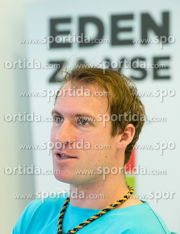 Grega Zemlja during press conference of Slovenian National Men Tennis Team before Davis Cup against South Africa Republic, on March 30, 2017 in Ljubljana, Slovenia. Photo by Vid Ponikvar / Sportida