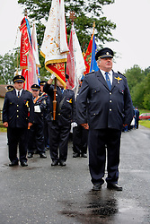 CZECH REPUBLIC VYSOCINA NEDVEZI 30JUL11 - CZECH REPUBLIC VYSOCINA NEDVEZI 30JUL11 - Voluntary firemen from Nedvezi march during a gathering of fire crews in the village of Nedvezi, Vysocina, Czech Republic...This year marks the 120th anniversary of the voluntary firemen in Nedvezi, Vysocina, Czech Republic.....jre/Photo by Jiri Rezac....© Jiri Rezac 2011