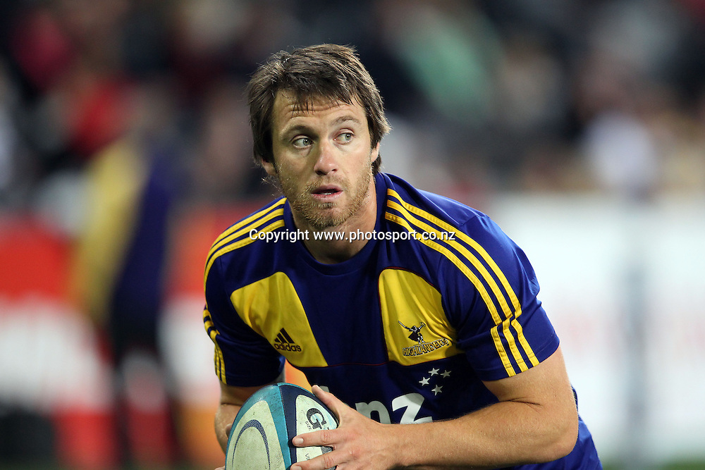 Ben Smith.<br /> Investec Super Rugby - Highlanders v Stormers, 7 April 2012, Forsyth Barr Stadium, Dunedin, New Zealand.<br /> Photo: Rob Jefferies / photosport.co.nz