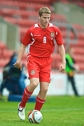WREXHAM, WALES - Saturday, October 10, 2009: Wales' Christian Ribeiro during the UEFA Under-21 Championship Qualifying Round Group 3 match against Bosnia-Herzegovina at the Racecourse Ground. (Pic by Chris Brunskill/Propaganda)
