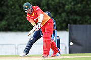 Malcolm Waller batting during the One Day International match between Scotland and Zimbabwe at Grange Cricket Club, Edinburgh, Scotland on 15 June 2017. Photo by Kevin Murray.