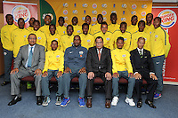 CAPE TOWN, SOUTH AFRICA - Sunday 27 September 2015: the South African team after the post-match press conference during the U17 International friendly soccer match between South Africa v Chile at Athlete Stadium. (Photo by Roger Sedres/ImageSA)