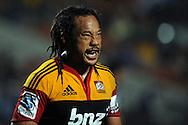 A frustrated Tana Umaga. Investec Super Rugby - Chiefs v Blues, Waikato Stadium, Hamilton, New Zealand. Saturday 26 March 2011. Photo: Andrew Cornaga / photosport.co.nz
