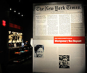 Newspaper accounts depict the civil rights struggle on the second floor of the National Center for Civil and Human Rights Tuesday, June 10, 2014, in Atlanta. The center opens June 23 after almost 10 years of preparations. David Tulis / AJC Special