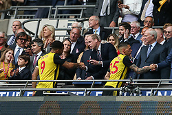 Prince William hands Troy Deeney his losers medal - Mandatory by-line: Arron Gent/JMP - 18/05/2019 - FOOTBALL - Wembley Stadium - London, England - Manchester City v Watford - Emirates FA Cup Final