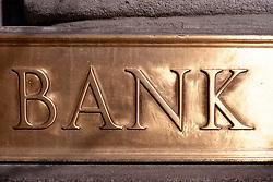 Dec. 14, 2012 - Traditional bank sign (Credit Image: © Image Source/ZUMAPRESS.com)