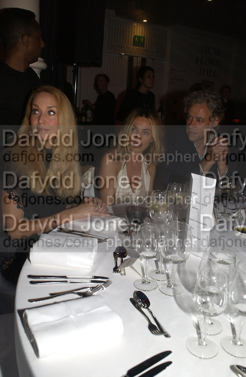 Jerry Hall, Jean Marine and Bob Geldof. GQ Men Of The Year Awards at the Royal Opera House, London. September 6, 2005 in London, England, ONE TIME USE ONLY - DO NOT ARCHIVE  © Copyright Photograph by Dafydd Jones 66 Stockwell Park Rd. London SW9 0DA Tel 020 7733 0108 www.dafjones.com