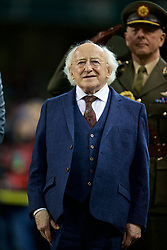 DUBLIN, REPUBLIC OF IRELAND - Friday, March 24, 2017: President of Ireland Michael D. Higgins before the 2018 FIFA World Cup Qualifying Group D match between Wales and Republic of Ireland at the Aviva Stadium. (Pic by David Rawcliffe/Propaganda)