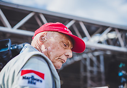 21.05.2019, AUT, ARCHIV, Niki Lauda am 20. Mai im Alter von 70 Jahren verstorben, im Bild Niki Lauda (AUT), 30.06.2018, Red Bull Ring, Spielberg, Legendenparade // ARCHIVE, Niki Lauda passed away on 20 May at the age of 70. Niki Lauda (AUT) during Legends Race of the Austrian FIA Formula One Grand Prix at the Red Bull Ring in Spielberg, France on 2018/06/30. EXPA Pictures © 2019, PhotoCredit: EXPA/ JFK