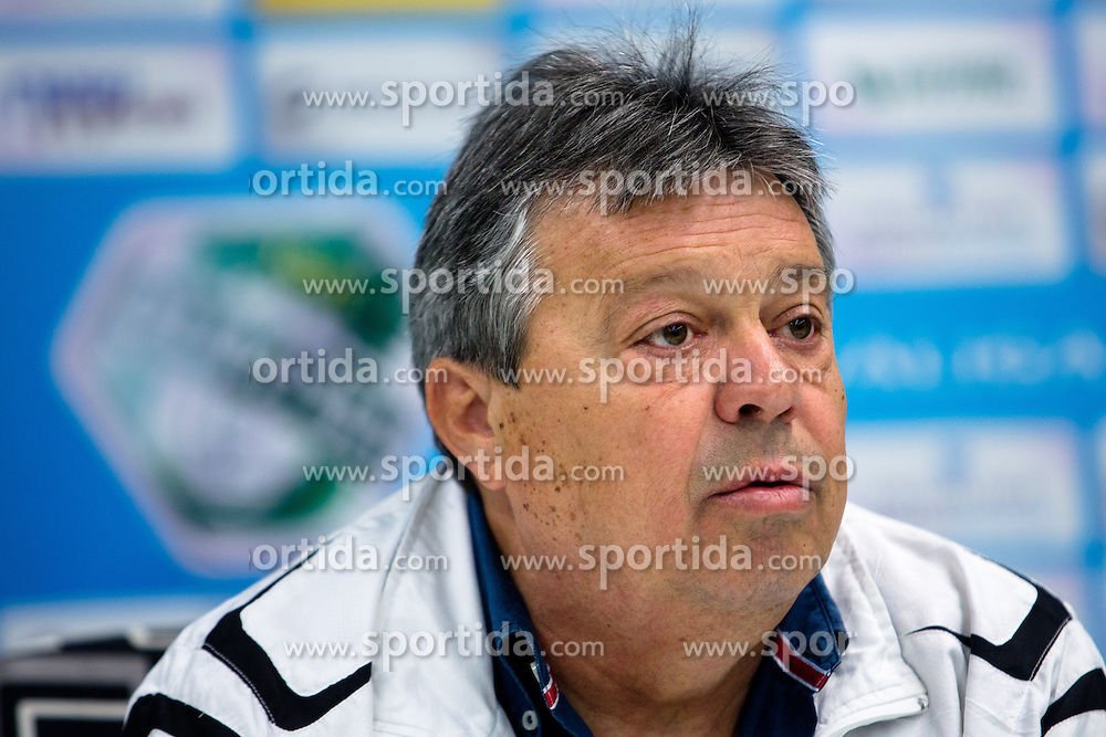 Milorad Kosanovic, head coach, at press conference of NK Olimpije before second part of Slovenian league on February 28, 2014 in SRC Stozice, Ljubljana, Slovenia. Photo by Matic Klansek Velej / Sportida