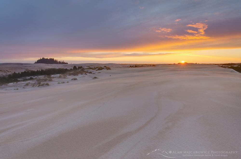 Sunset on Oregon Dunes National Recreation Area