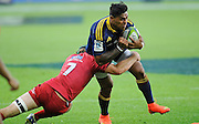 Malakai Fekitoa in action for the Highlanders. Investec Super Rugby - Highlanders v Reds 27 February 2015, Forsyth Barr Stadium, Dunedin, New Zealand. Photo: New Zealand. Photo: Richard Hood/www.photosport.co.nz