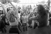 Chris & Donna raving ,Glastonbury, 1995.