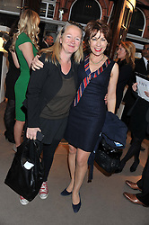 Left to right, PIP BROUGHTON and KATHY LETTE at the launch party for Spectator Life hosted by Andrew Neil at Asprey, 167 New Bond Street, London on 28th March 2012.