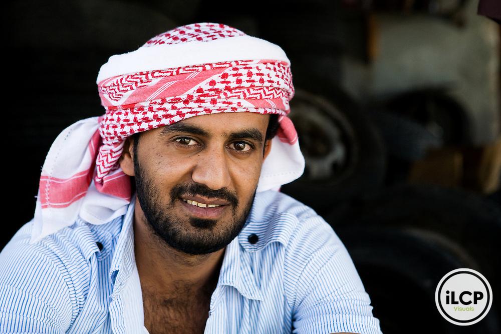 Young Yemeni man in traditional clothing, Hawf Protected Area, Yemen