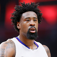 21 December 2015: Los Angeles Clippers center DeAndre Jordan (6) is seen during the Oklahoma City Thunder 100-99 victory over the Los Angeles Clippers, at the Staples Center, Los Angeles, California, USA.