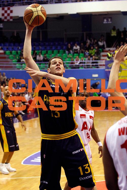 DESCRIZIONE : Milano Lega A1 2007-08 Armani Jeans Milano Premiata Montegranaro<br /> GIOCATORE : Valerio Amoroso<br /> SQUADRA : Premiata Montegranaro<br /> EVENTO : Campionato Lega A1 2007-2008<br /> GARA : Armani Jeans Milano Premiata Montegranaro<br /> DATA : 01/03/2008<br /> CATEGORIA : Tiro<br /> SPORT : Pallacanestro<br /> AUTORE : Agenzia Ciamillo-Castoria/G.Cottini