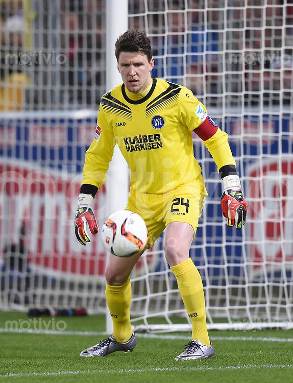 Fussball  2. Bundesliga  Saison 2015/2016  27. Spieltag SC Freiburg - Karslruher SC        13.12.2015 Torwart Rene Vollath (Karslruher SC)