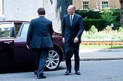 Italian Prime Minster Enrico Letta (right) arrives at 10 Downing Street for a meeting with Prime Minister David Cameron. Mr Letta is in the UK on a two day visit.<br /> 10 Downing Street, London, United Kingdom<br /> Wednesday, 17th July 2013<br /> Picture by Piero Cruciatti / i-Images