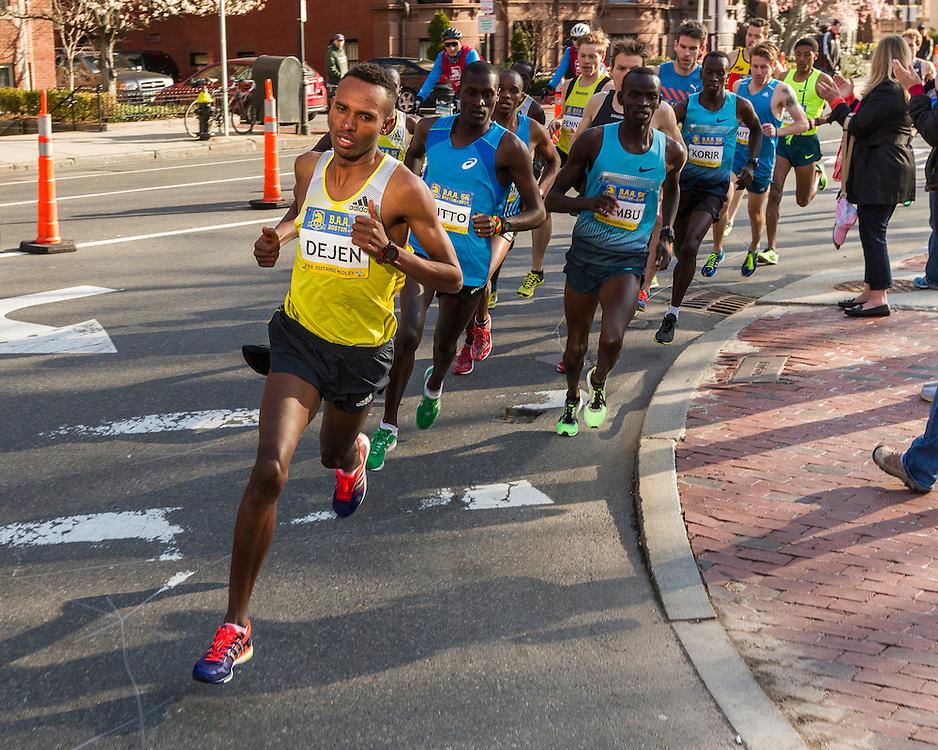 BAA 5K, Dejen Gebremeskel leads race early
