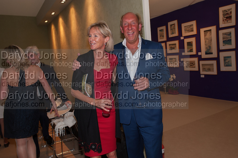 THE DUCHESS OF ROXBURGH; LORD DAVENTRY; , Art Antiques London Party in the Park in aid of JDRF, the Juvenile Diabetes Research Foundation. Kensington Gardens. London. 12 June 2012