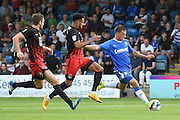 Gillingham forward Cody MacDonald (10) has a shot on goal during the EFL Sky Bet League 1 match between Gillingham and Coventry City at the MEMS Priestfield Stadium, Gillingham, England on 24 September 2016. Photo by Martin Cole.