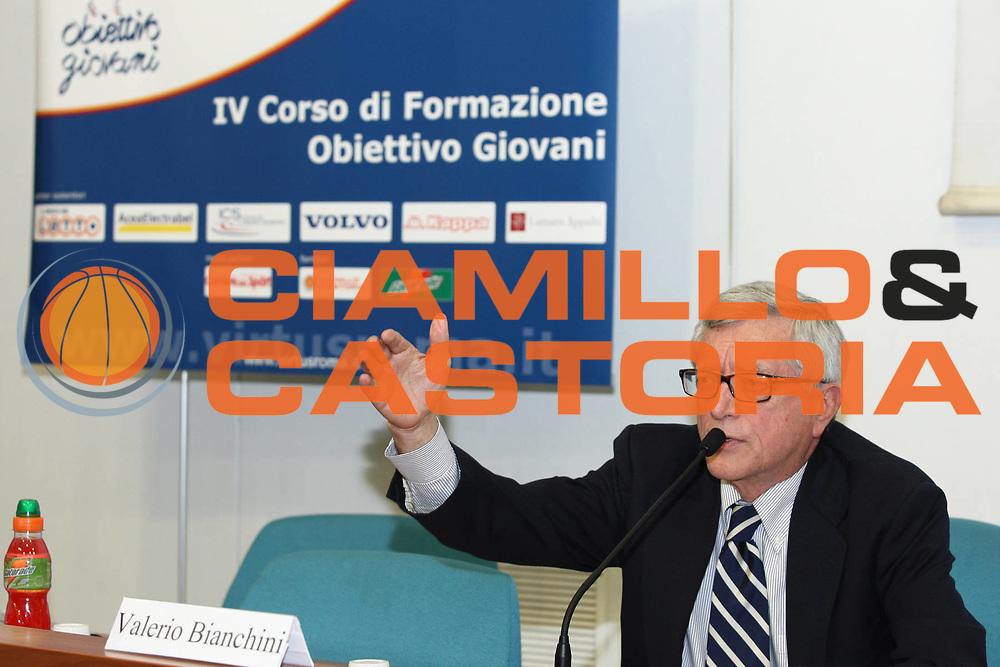 DESCRIZIONE : Roma Lega A 2009-10 IV Corso di Formazione Obiettivo Giovani Lottomatica Virtus Roma Modulo 3<br /> GIOCATORE : Valerio Bianchini <br /> SQUADRA : <br /> EVENTO : Campionato Lega A 2009-2010 <br /> GARA : <br /> DATA : 01/03/2010<br /> CATEGORIA : Ritratto<br /> SPORT : Pallacanestro <br /> AUTORE : Agenzia Ciamillo-Castoria/GiulioCiamillo<br /> Galleria : Lega Basket A 2009-2010 <br /> Fotonotizia : Roma Campionato Italiano Lega A 2009-2010 Lottomatica Virtus Roma Modulo 3<br /> Predefinita :