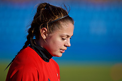 SAINT PETERSBURG, RUSSIA - Monday, October 23, 2017: Wales' Peyton Vincze during a training session at the Petrovsky Minor Sport Arena ahead of the FIFA Women's World Cup 2019 Qualifying Group 1 match between Russia and Wales. (Pic by David Rawcliffe/Propaganda)