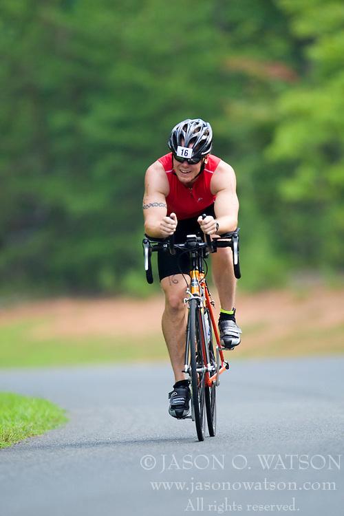 CHARLOTTESVILLE, VA - July 27, 2008 - CHRIS BESS in The 2008 Charlottesville International Triathlon was held at Walnut Creek Park in Albemarle County near Charlottesville, Virginia, USA.