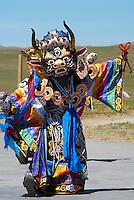 Mongolie. Danse bouddhiste. // Mongolia. Bouddhist dance.