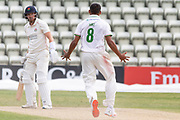 WICKET - Ben Mike traps Steven Croft LBW after the Bob Willis Trophy match between Lancashire County Cricket Club and Leicestershire County Cricket Club at Blackfinch New Road, Worcester, United Kingdom on 4 August 2020.