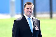 NAVO-bijeenkomst in Brussel. Tijdens de top wordt onder meer gesproken over gereedheid, inzetbaarheid en het verbeteren van de militaire mobiliteit in Europa.<br /> <br /> NATO meeting in Brussels. The summit discusses, among other things, readiness, employability and the improvement of military mobility in Europe.<br /> <br /> Op de foto / On the photo:  premier van Estland - Juri Ratas  / Prime Minister of Estonia - Juri Ratas