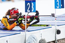 Janina Hettich (GER) during the Mixed Relay 2x 6 km / 2x 7,5 km at day 3 of IBU Biathlon World Cup 2019/20 Pokljuka, on January 23, 2020 in Rudno polje, Pokljuka, Pokljuka, Slovenia. Photo by Peter Podobnik / Sportida